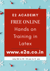 Hands on Training in LaTeX